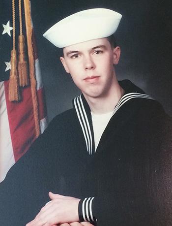 Matt Meeker as a Navy