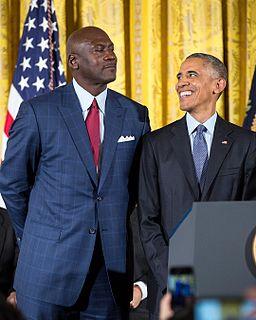 Michael Jordan receiving the Presidential Medal of Freedom in 2016