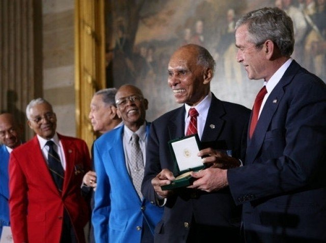 George Bush Roscoe Brown Tuskegee Airmen