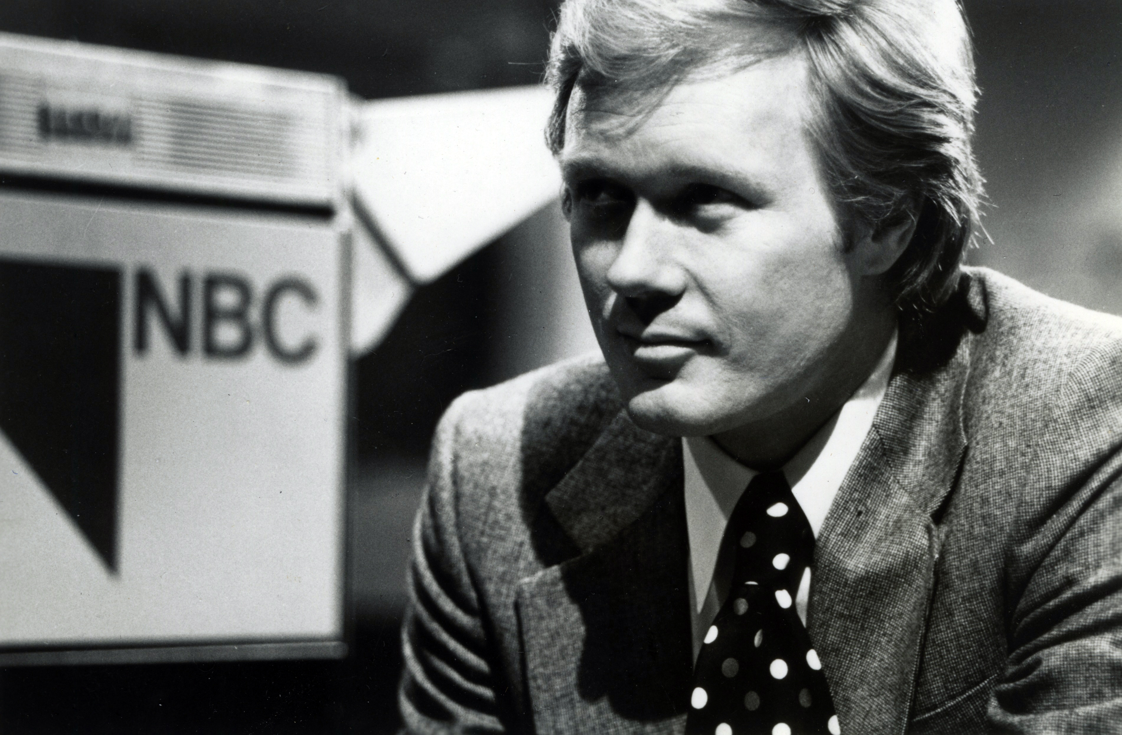 Scarborough in his early New York City days at WNBC, 1978.