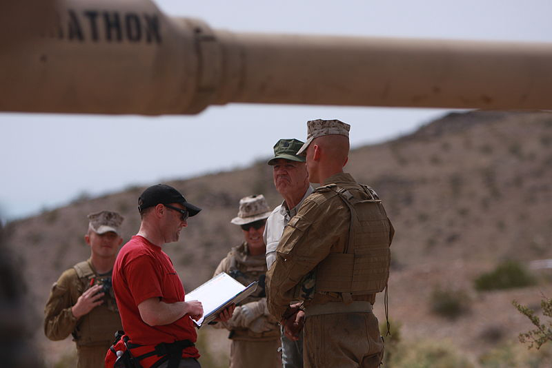 "Ermey filmed part of an episode for another recent TV show he hosted, called ""Lock and Load,"" with the 1st Tank Battalion of the Marines."