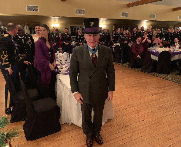 Paul Bucha at at the Army Reserve's 411th Civil Affairs Battalion Holiday Dining Out event
