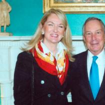 lin with mayor michael bloomberg