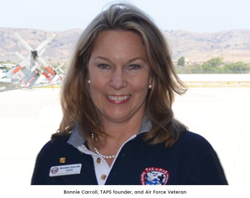 Bonnie Carroll, founder of TAPS
