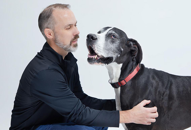 Matt Meeker and his dog