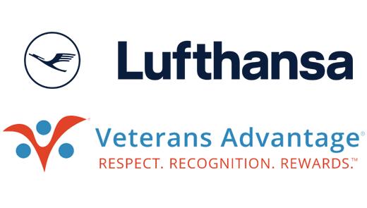 Lufthansa and Veterans Advantage logos