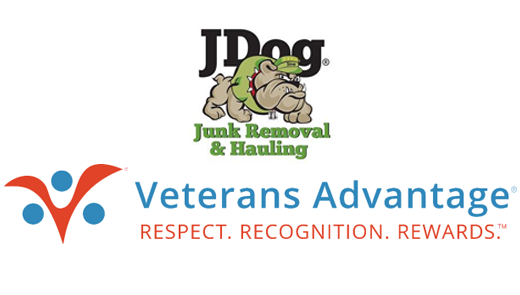 JDog and Veterans Advantage Partner to Thank U.S. Active Duty, Veterans & Military Families with Junk Removal Service Discounts