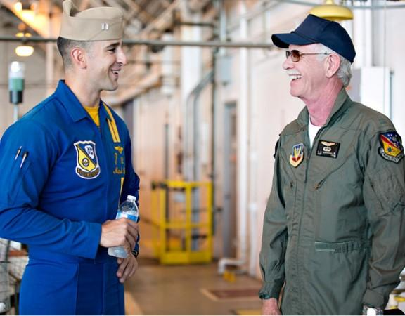 Sully Sullenberger with Blue Angel Lt. Mark Tedrow