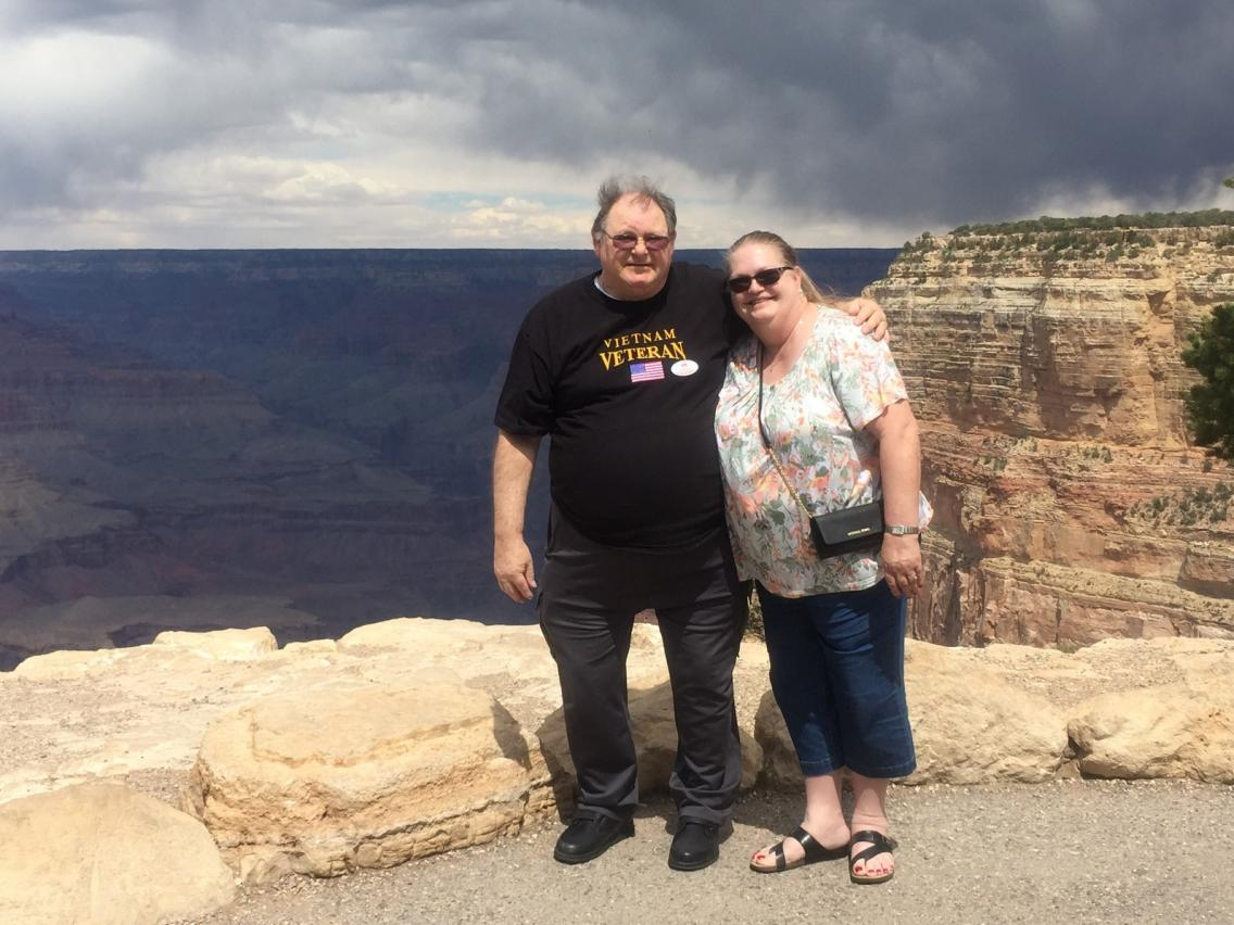 Gary and Trisha Young at the Grand Canyon