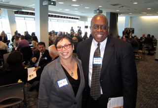 Two employers pose at the Edge4Vets Workshop Series