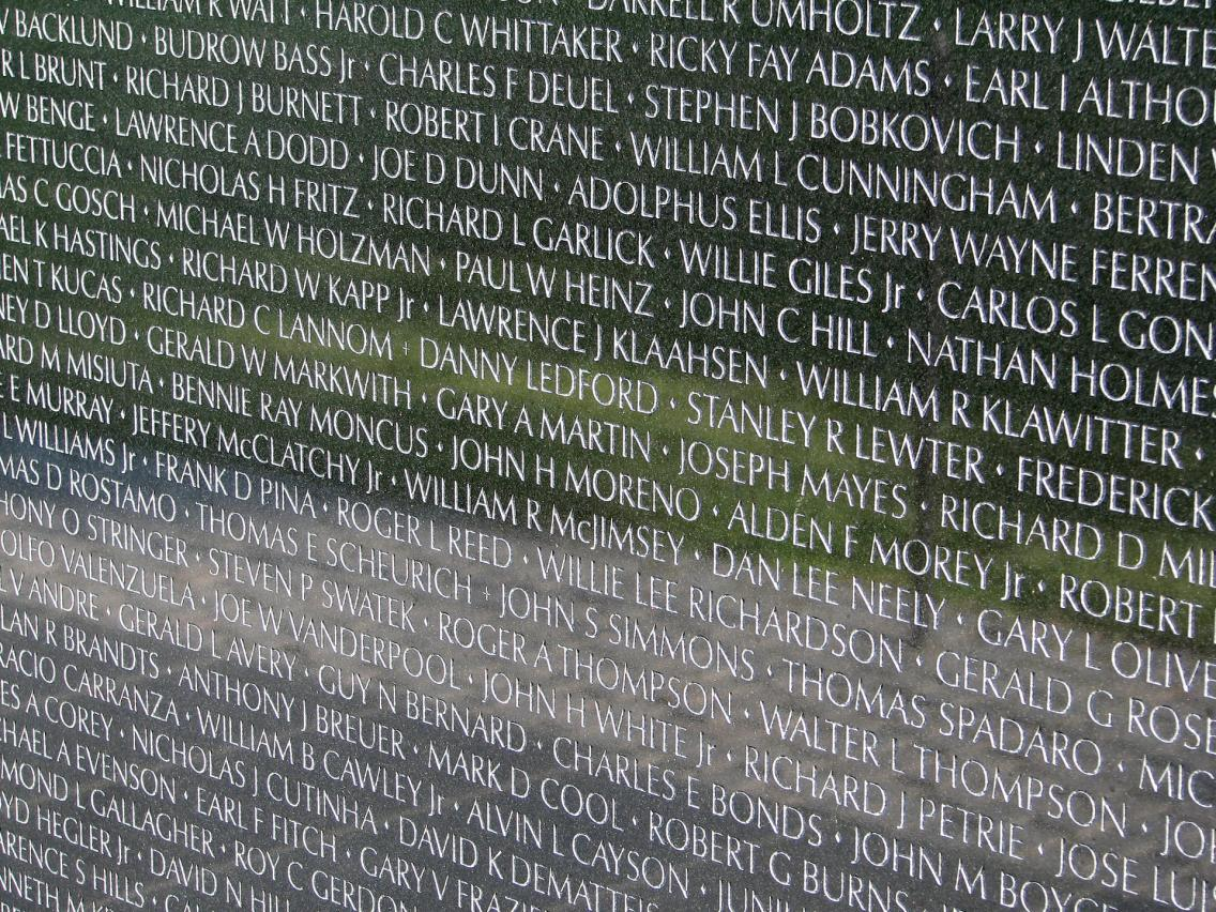 Vietnam Veteran Memorial Wall