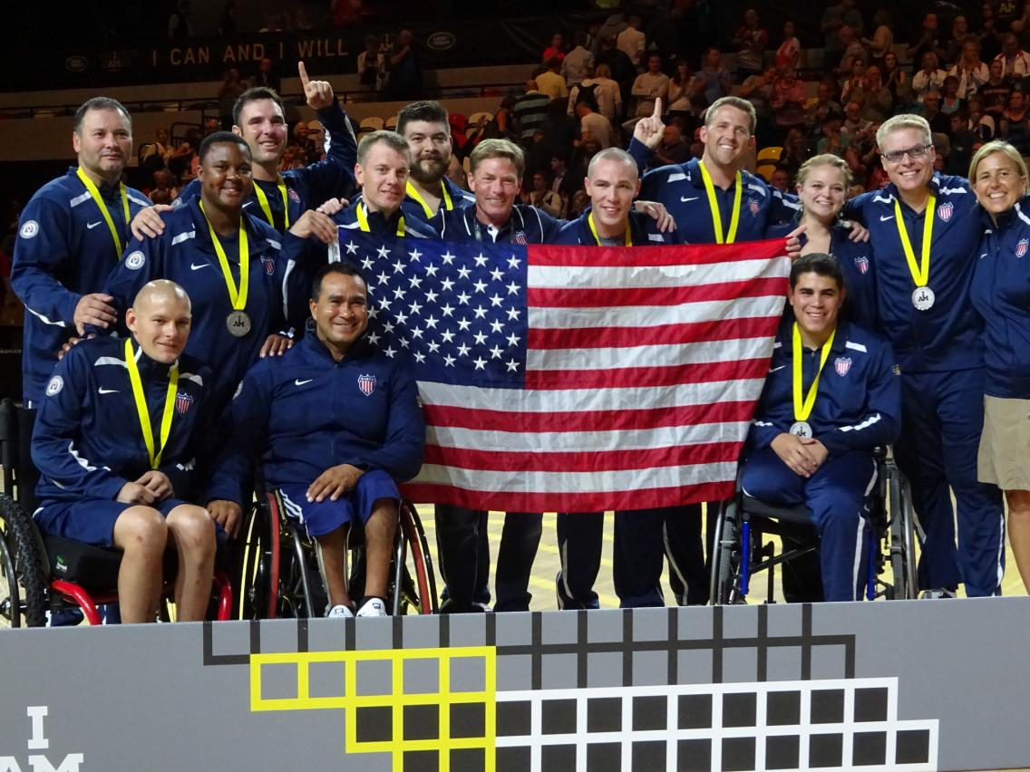 Ken Fisher with Invictus Team USA
