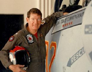 """CDR Randy """"Duke"""" Cunningham flew in an adversary squadron flying Russian tactics while training Navy pilots at the famed """"Top Gun."""""""