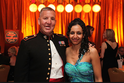 Justin Constantine and his wife at Veteran Advantage's Heroes Meet Heroes 2016