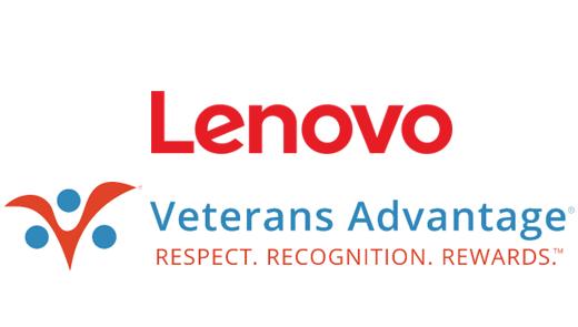 Lenovo and Veterans Advantage logos