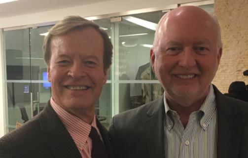 Scott Higgins of Veterans Advantage and Jim McCann, CEO of 1800Flowers