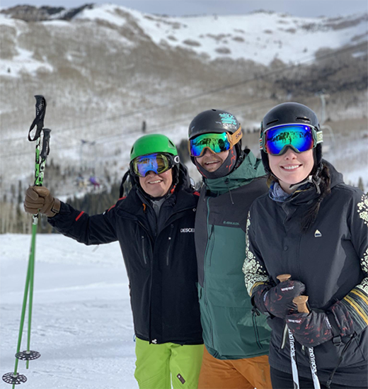 Skiing with my son, Parker and his girlfriend, Beverly