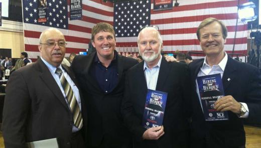 Terrance Holliday, Dakota Meyer, Gerry Byrne and Veterans Advantage Founder Scott Higgins