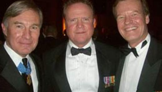 Medal of Honor recipient and fellow VA board member Buddy Bucha (left) is pictured here with Virginia Senator Jim Webb (center)and VA founder Scott Higgins