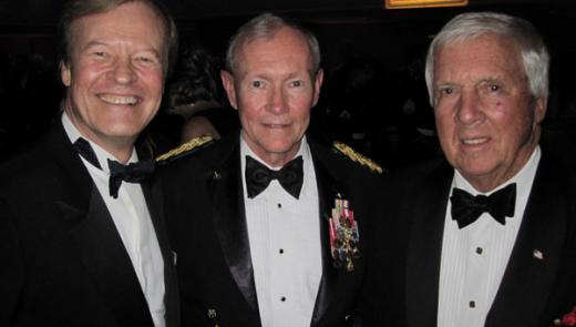 Veterans Advantage founder, Scott Higgins with General Martin E. Dempsey, Chairman of the Joint Chiefs of Staff, (center) and Malcolm Pray (right).