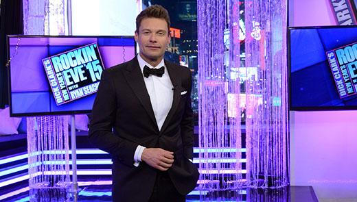 "Ryan Seacrest on the set of his annual TV Hit ""Dick Clark's New Year's Rockin' Eve with Ryan Seacrest."""