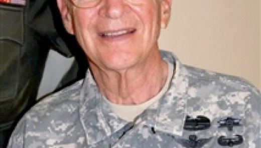 Army Col. (Dr.) William Bernhard is serving a voluntary rotation in Hohenfels, Germany. The 79-year-old flight surgeon, who has retired from the military four times, said this will be his last active-duty assignment. U.S. Army