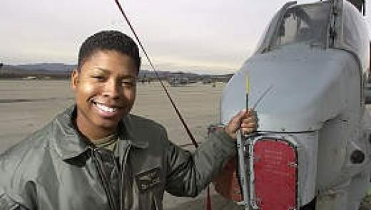 Marine Capt. Vernice Armour is the Department of Defense's first black female combat pilot. She flies AH-1W Super Cobra helicopters like this one at the Camp Pendleton airstrip. Photo:CHARLIE NEUMAN / Union-Tribune