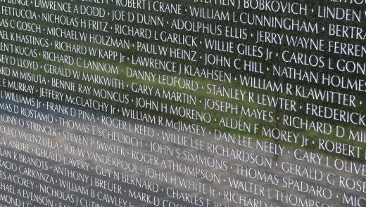 Vietnam Veteran Memorial Wall