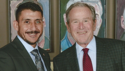 Rod Rodriguez and President Bush Photo Credit Grant Miller Photography Website