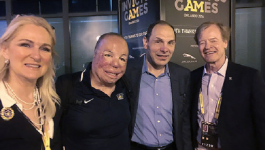 Scott and Lin Higgins, co-founders of Veterans Advantage, at the 2016 Invictus Games