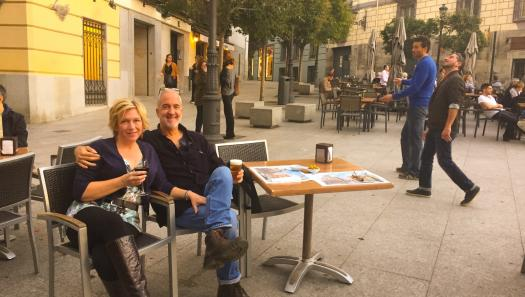 Stann Coerr with his wife in Spain