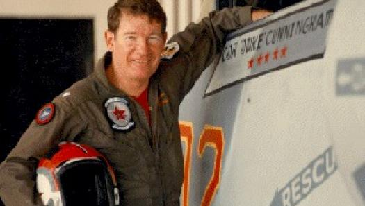 "CDR Randy ""Duke"" Cunningham flew in an adversary squadron flying Russian tactics while training Navy pilots at the famed ""Top Gun."""