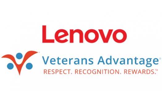 Lenovo and Veterans Advantage logos