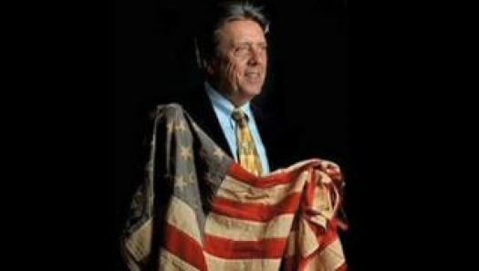 Rick Monday with Old Glory