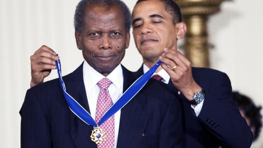 Barack Obama and Sidney Poitier