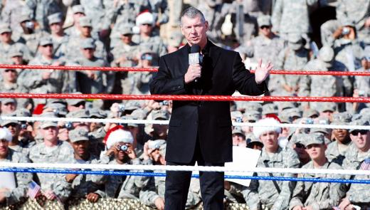 wrestling for the troops