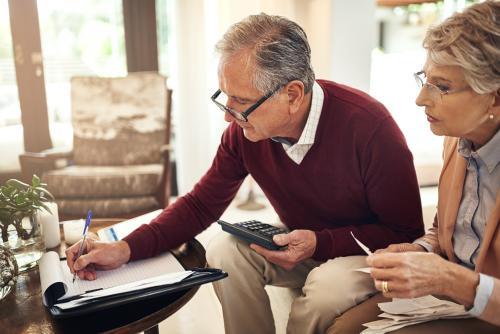 couple reviewing personal finances